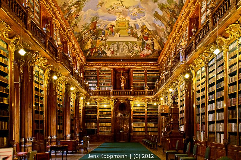 Bibliothek Von Kloster Strahov In Prag Architekturfotografie