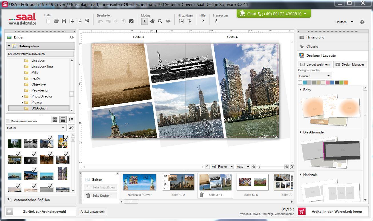 Saal-Fotobuchsoftware