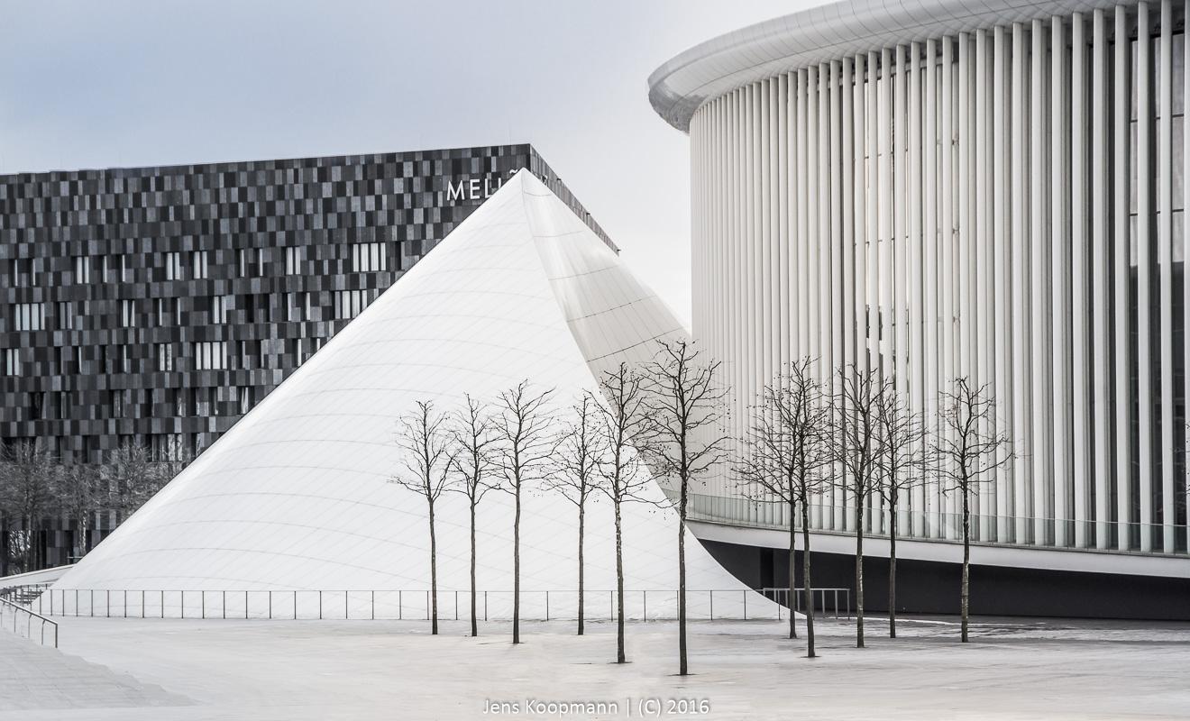 Winter an der Luxemburger Philharmonie | Stichwörter: Kirchberg, Luxemburg. Luxembourg, Philharmonie | Kategorien: Architektur, Luxemburg, Portfolio