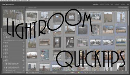Lightroom-Quicktips – Folge 1: Schneller Arbeiten im Bibliothekmodul mit diesen 10 Shortcuts