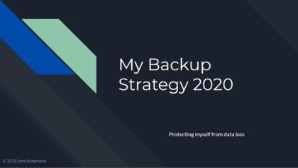 Backup-Strategie für Fotos - meine 2020-Version