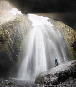 Island 2017 - Gljúfrabúi Wasserfall
