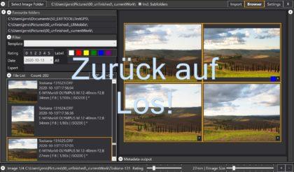 Ein Fototool entsteht – Photography Toolbox Fortschritte im November 2020